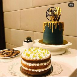 Jazeebakes ready to serve fresh and delicious variety of cakes from cute mini cakes,cheesecake, Designer cake,Cupcakes,Arabic sweets Kunafa ,Basbousa ,cookies,pudding Special non bake cheesecakes .